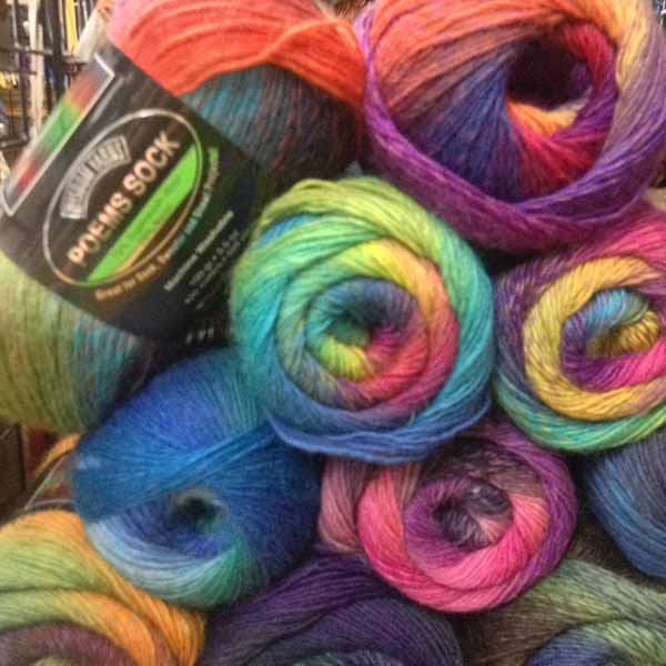 Colourful yarn